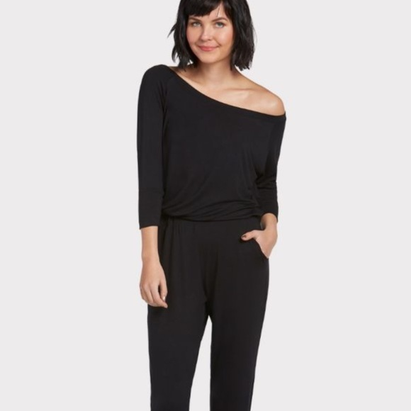 a53a6f11e8a Michael Stars 3 4 Sleeve Off The Shoulder Jumpsuit